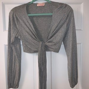 Cropped Wrap-Around Shirt